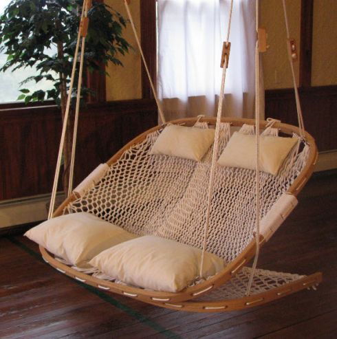 double hammok chair!