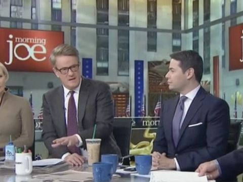 """SCARBOROUGH: """"And let us be very clear. That was set up by Donald Trump's own administration, his own Justice Department, his own attorney general, his own deputy attorney general. This is called the rule of law. This wasn't the deep state. This was Donald Trump state. And we're going to get to this in a little bit. But what they are doing could lead to violence and what they are doing is about as deeply irresponsible than anything I've ever seen. And again, for the purposes of this…"""