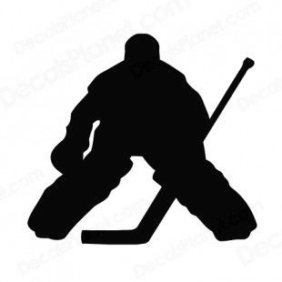 free hockey silouette | Hockey goalie goaler silhouette other hockey decals, decal sticker ...