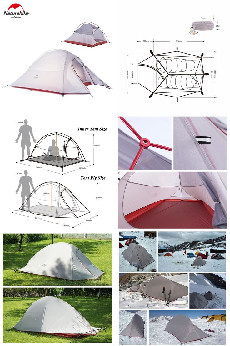 [Visit to Buy] Naturehike New 2 Person Tent 20D Silicone Fabric Tent Double-layer Camping Tent Lightweight Tent Outdoor Sports Winter #Advertisement