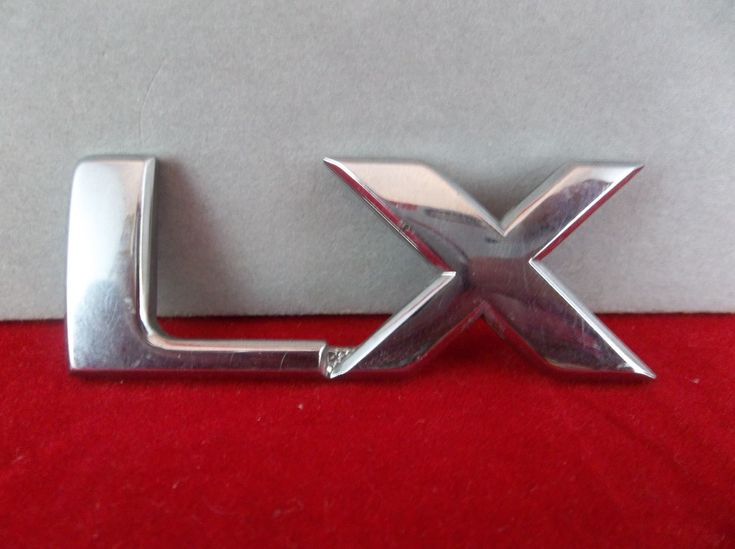 "2003-2009 Kia Sorento ""LX"" Chrome Plastic Trim Level Emblem OEM  #Kia #Sorento #LX #Chrome #Liftgate #Emblem #Trim #OEM #Original #Cars #Parts #eBid"