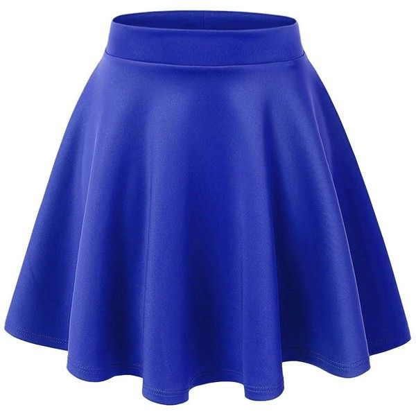 Regna X Woman High waist Night Out Cute blue large Skater Short Skirt... ($16) ❤ liked on Polyvore featuring skirts, blue high waisted skirt, high waist skirt, skater skirt, high-waist skirt and high rise skirts
