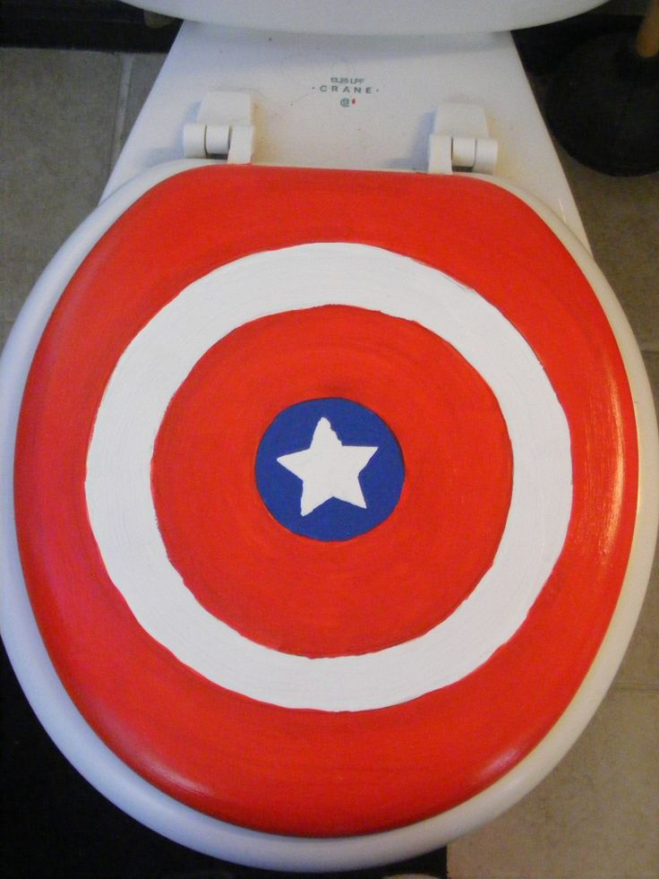 Toilet Seat for Superhero Bathroom