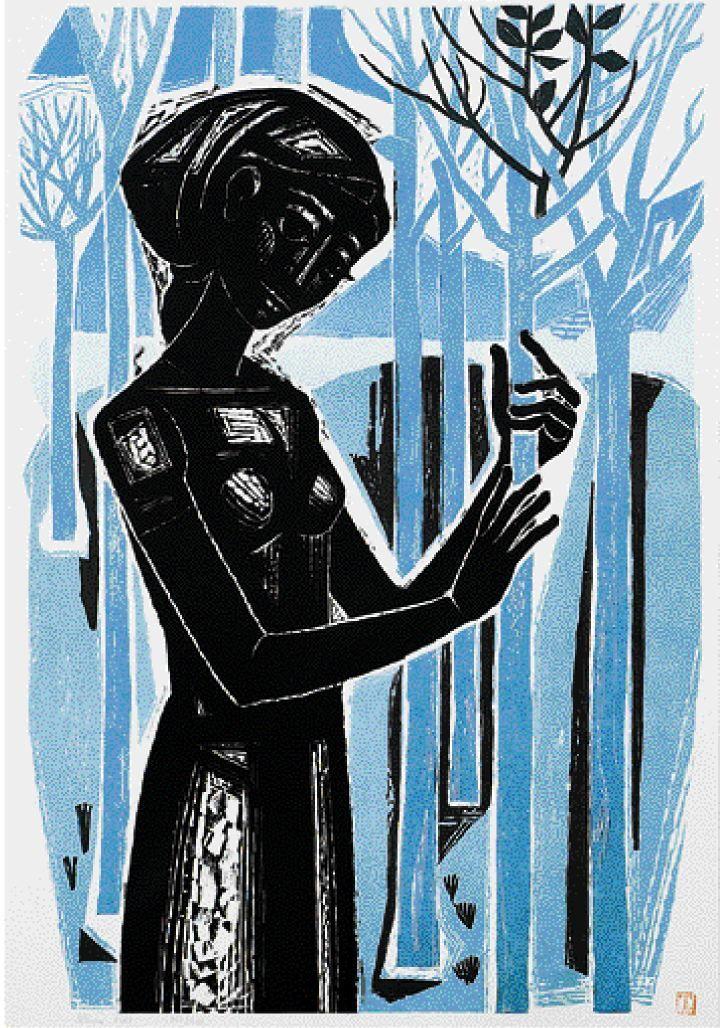 Τάσσος (Αλεβίζος), «Το κορίτσι με τα μικρά δένδρα»