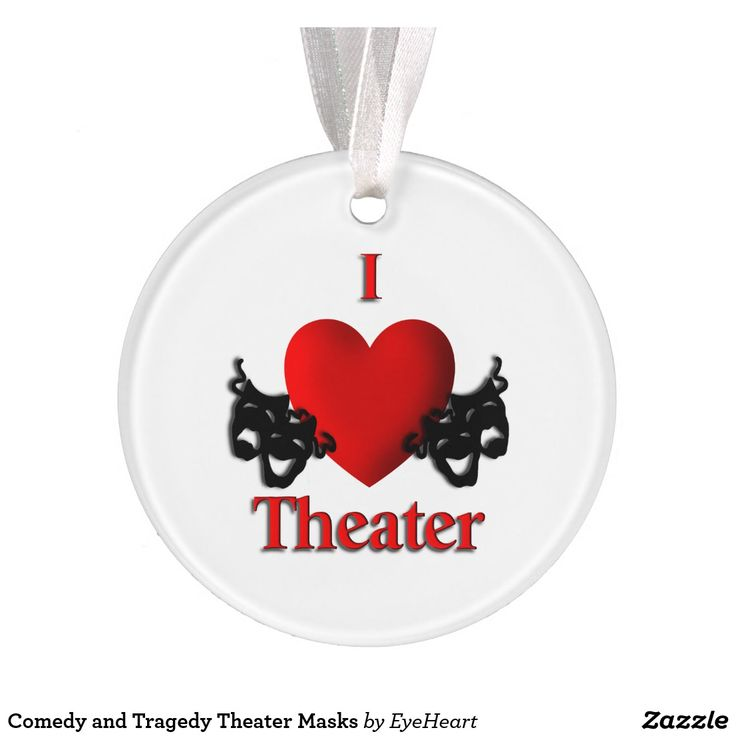 Sold Comedy and Tragedy Theater Masks Ornament