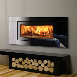 Stovax Riva Studio Glass Inset Woodburning Fire | Cosy Log Fires, Fireplaces & Log Burners
