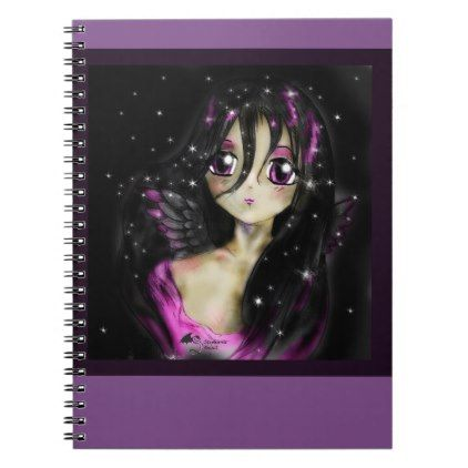 Anime Princess Angel Manga Girl Magic  Notebook - animal gift ideas animals and pets diy customize