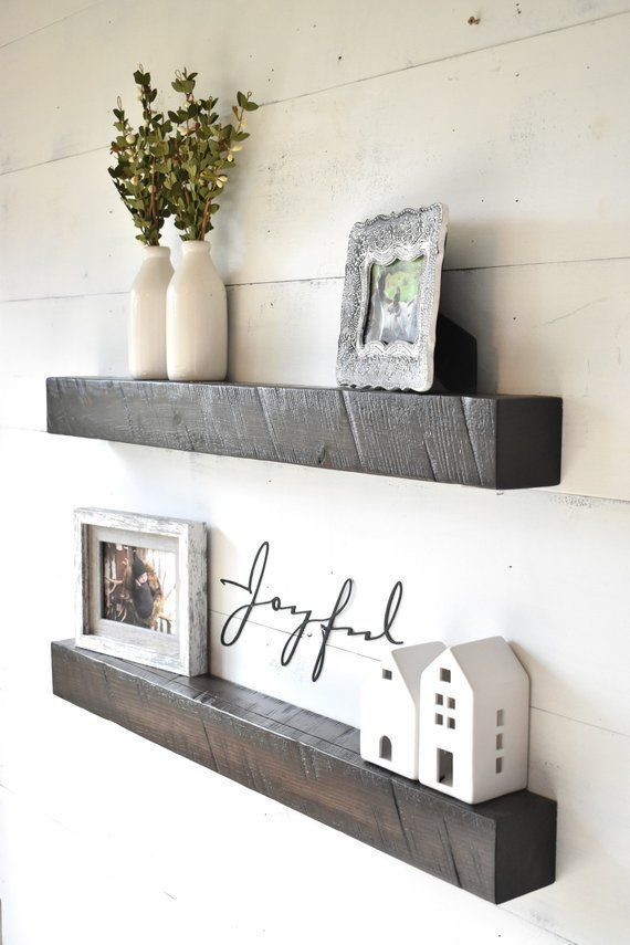 Wood Shelf Shelves Storage Shelves Wall Shelf Ledge Floating Shelves Farmhouse Shelves Shelf Shelf Decor Living Room Wall Shelf Decor Floating Shelves Living Room