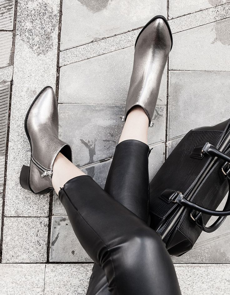 boots with metallic heels. Discover this and many more items in Bershka with new products every week