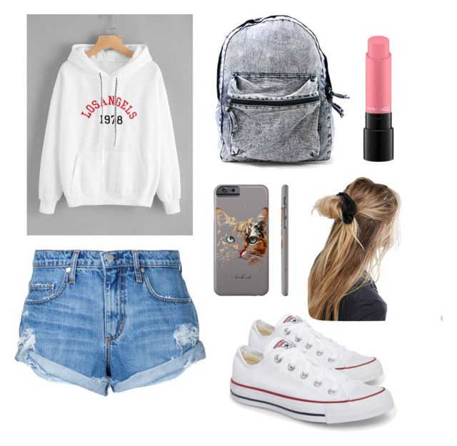 """Sin título #14"" by saez-javita on Polyvore featuring moda, Nobody Denim, Converse, Kitty Kat, ASOS y MAC Cosmetics"
