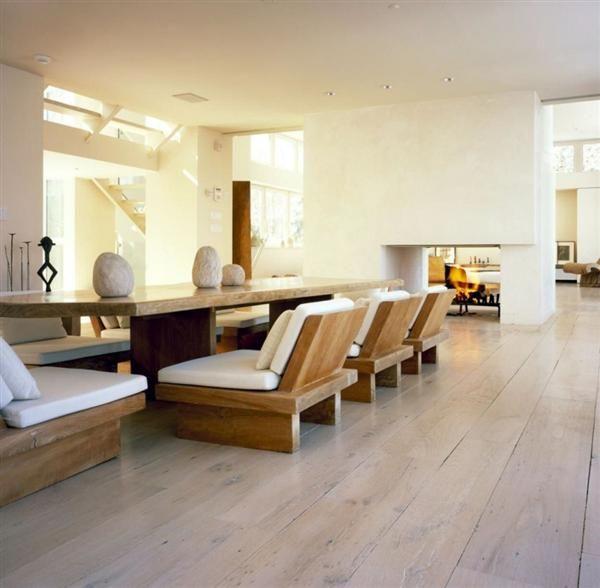 comfy big wooden table set