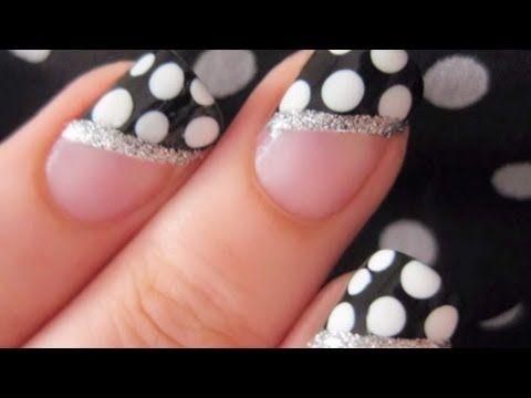 Easy Polka Dot Nails - video tutorial