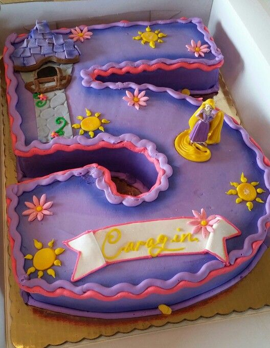 Repunzel shaped cake