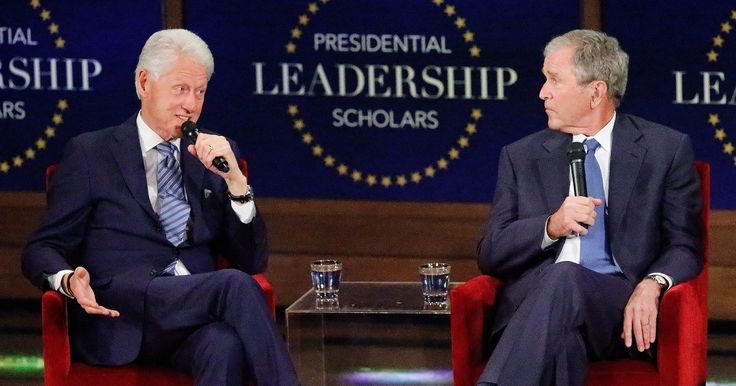 Bill 'Pop-Pop' Clinton and George W. 'Jefe' Bush Try to One-Up Each Other About Grandparenting
