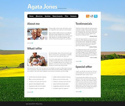 Agata Jones Website Templates by Di
