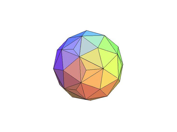 Bijzondere geometrische vormen: stereometrisch. Ze zijn niet plat, maar ruimtelijk en daarom noemen we ze stereometrisch. Door erop te klikken worden ze vergroot en gaan ze ronddraaien. Probeer het aantal vlakken uit te rekenen!