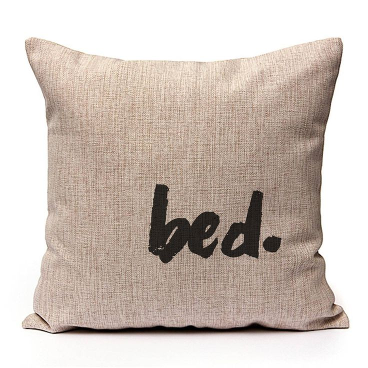 bed. via Sweet Little Sunday. Click on the image to see more! cushion pillow covers home interior pink decor pillowcase bed quotes