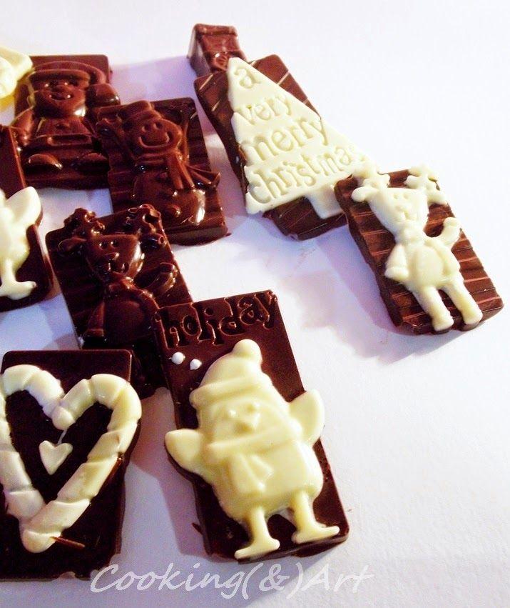 Xριστουγεννιάτικα σοκολατάκια / Christmas choco tags !