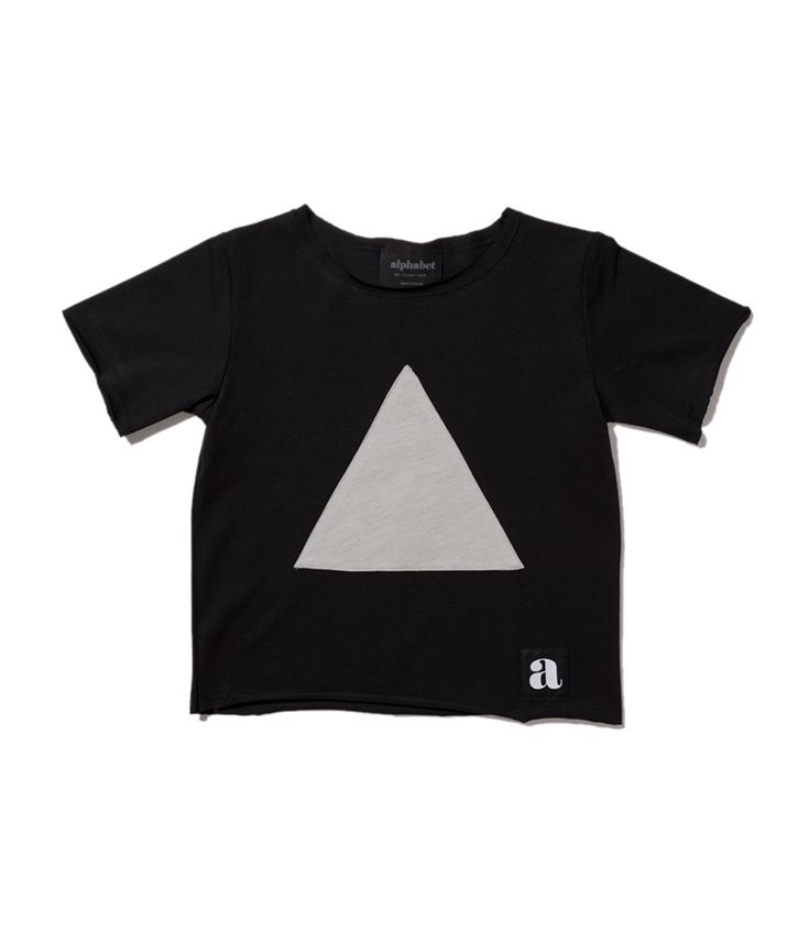 Gray triangle patch t-shirt