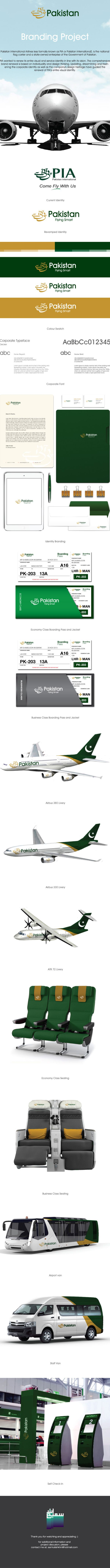 Pakistan International Airlines less formally known as PIA or Pakistan International), is the national flag carrier and a state-owned enterprise of the Government of Pakistan.PIA wanted to renew its entire visual and service identity in line with its vi…