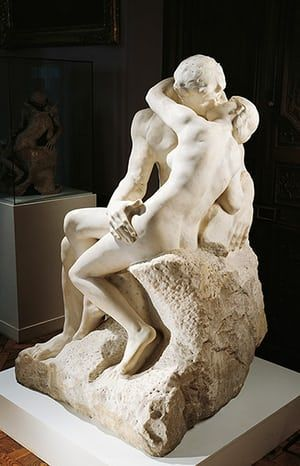 Love artworks: The Kiss (1888-89) by Auguste Rodin