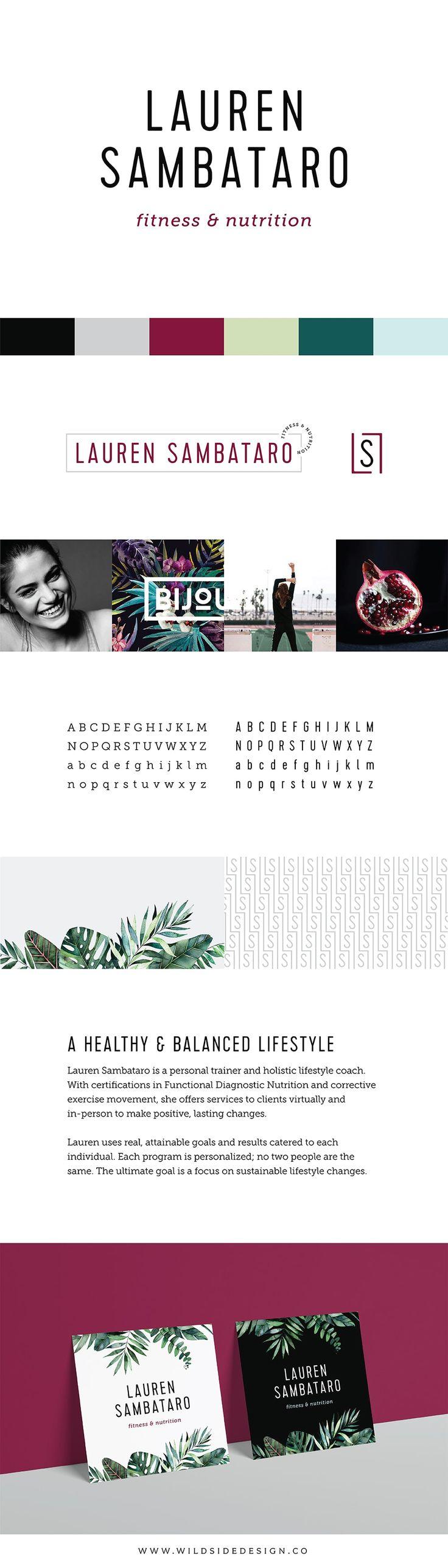 Bold Minimalist Brand Design for Lauren Sambataro Fitness & Nutrition | Wild Side Design Co.