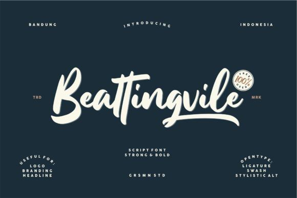 Beattingvile Font By Creative Fabrica Freebies Creative Fabrica In 2020 Free Script Fonts Free Fonts Handwriting Free Font