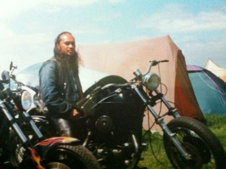 Me, in early days with my Bobber Sporty aka Mata-Satudarah MC