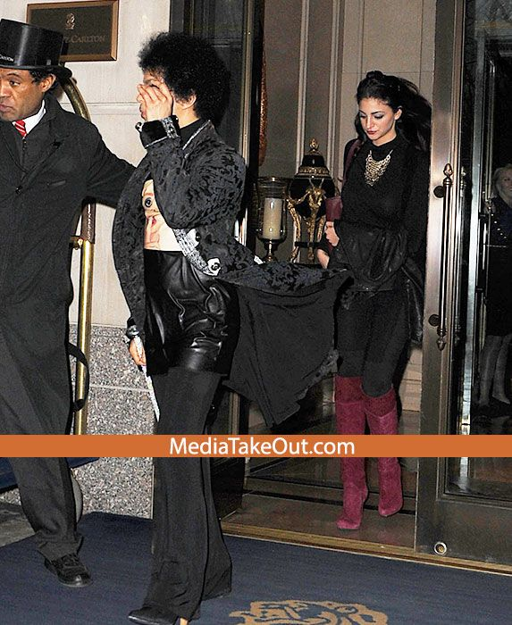 Prince and his date Source: www.MediaTakeOut.com     Pictures of Prince  out with his 'new girlfriend' were published on urban gossip web...