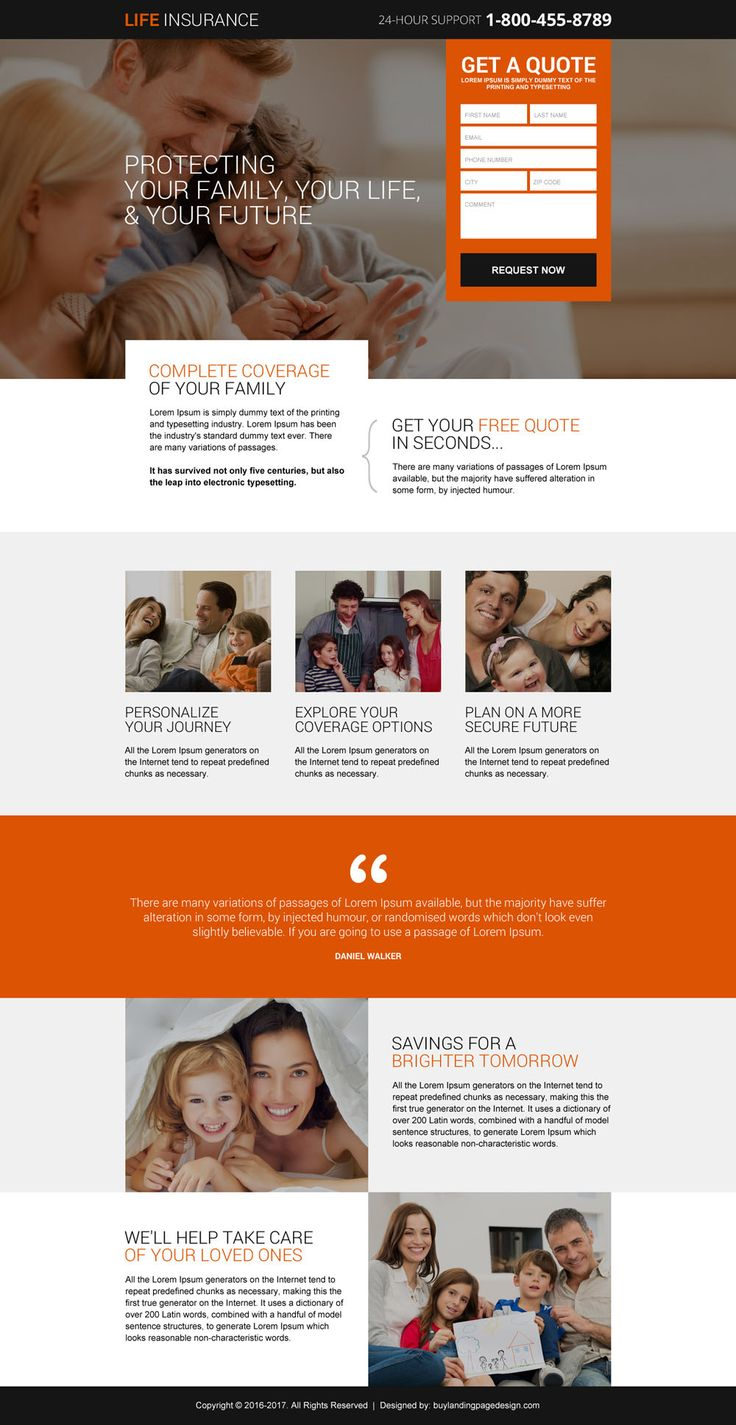 9 best life insurance company landing page to capture
