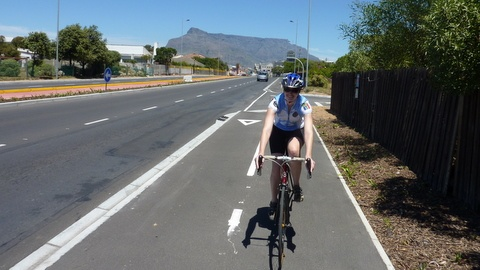 West coast cycle lanes in Cape Town - iRideAfrica
