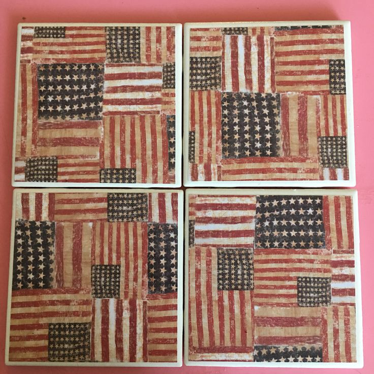Handmade Coasters Vintage American Flags by CourtneySonnenbergCo on Etsy https://www.etsy.com/listing/507999370/handmade-coasters-vintage-american-flags