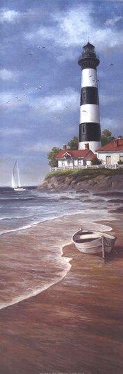 Lighthouse+Shoals+II+at+FramedArt.com