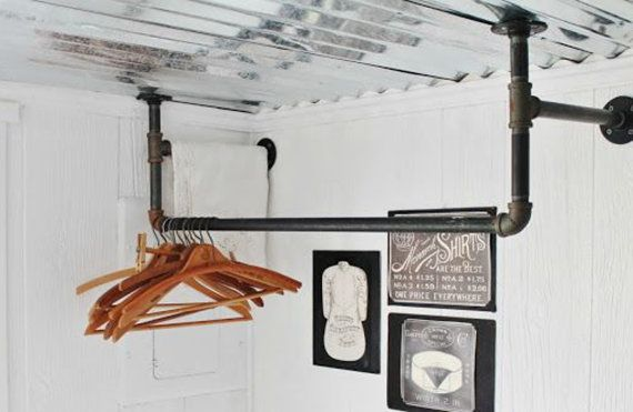 Industrial Laundry Room Drying Clothing Rack by FarmhouseBasics