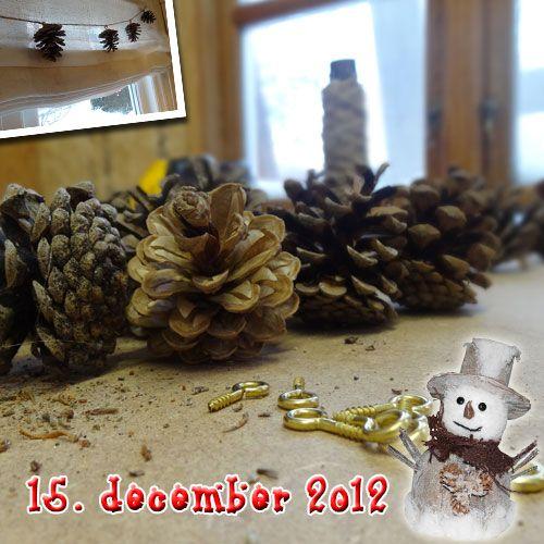 Hjemmelavet julepynt af de fineste fyrkogler. Lav en flot gran guirlande til indendørs eller udendørs brug.    http://www.goerdetgodt.dk/handarbejde/diy-jule-gran-guirlande