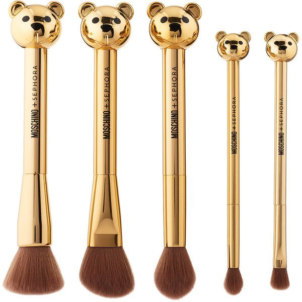 MOSCHINO SEPHORA Bear Brush Set SEPHORA COLLECTION ($54) ❤ liked on Polyvore featuring beauty products, makeup, makeup tools, makeup brushes, set of brushes and set of makeup brushes
