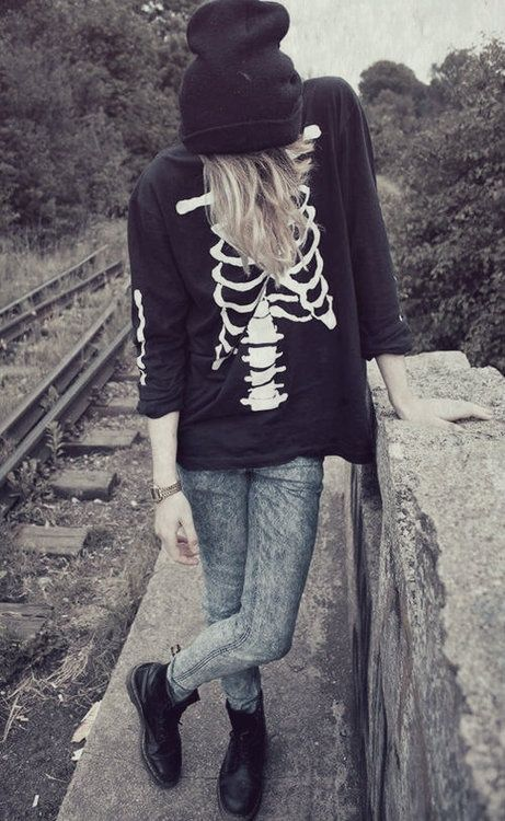 grunge outfit. And this one