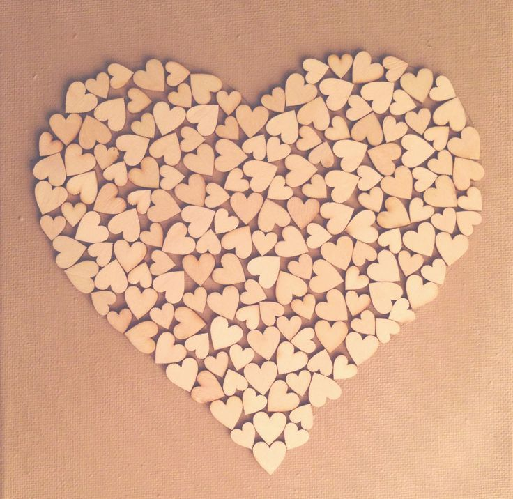 DIY! Canvas doek + houten hartjes {Xenos}