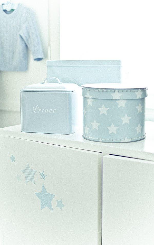 Lieve zachte kleuren voor de babykamer. Baby blauw - jongenskamer