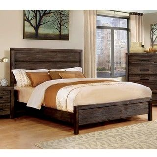 Shop for Furniture of America Barrison Industrial Dark Grey Panel Bed. Get free shipping at Overstock.com - Your Online Furniture Outlet Store! Get 5% in rewards with Club O! - 19406012