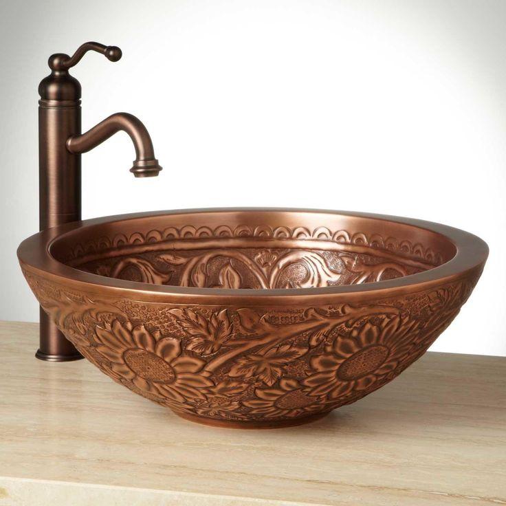 Best 25 Copper Vessel Sinks Ideas On Pinterest Copper Bathroom Sinks Copper Bath And Vessel Sink