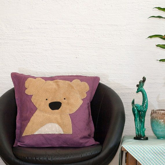 Koala #Pillow Case, #Cushion Cover, Handmade, Kawaii design, Quality Crafts, Throw Pillow, Decorative Pillow, Made in Norway