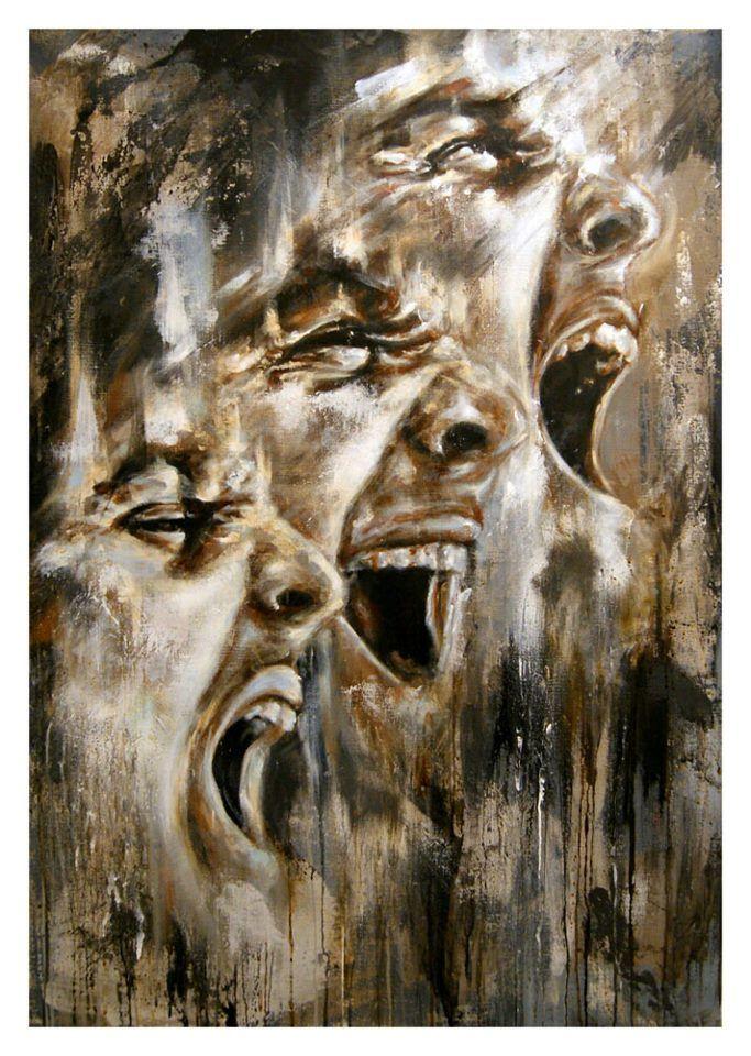 Acrylic & spray paint/canvas - Antoine Stevens..