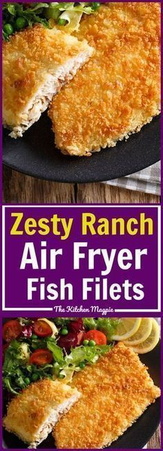 Zesty Ranch Air Fryer Fish Fillets! A great way to make crispy, delicious fish i… – Meat