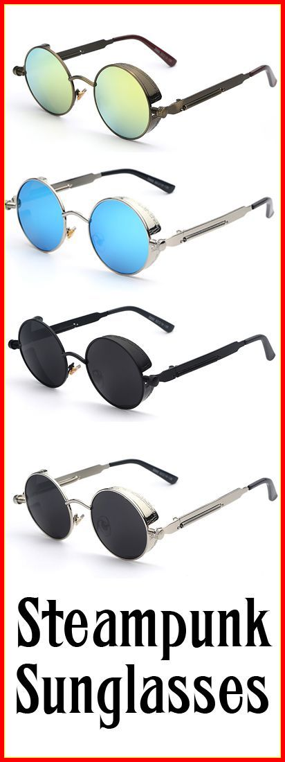 These Steampunk Sunglasses are a must have... Not Available In Stores! Click this link to see more! >>> https://www.thehobbyworld.com/collections/frontpage/products/epic-steampunk-sunglasses