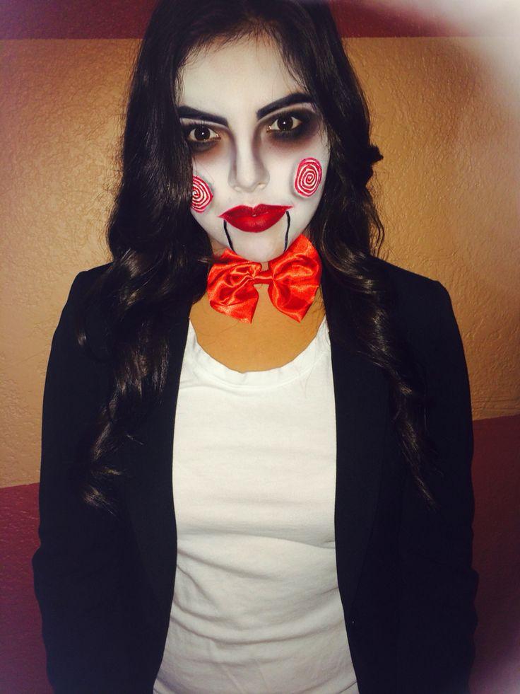 Jigsaw makeup. Halloween makeup. Clown makeup. Pipote Makeup. Ventriloquist makeup. Scary makeup.