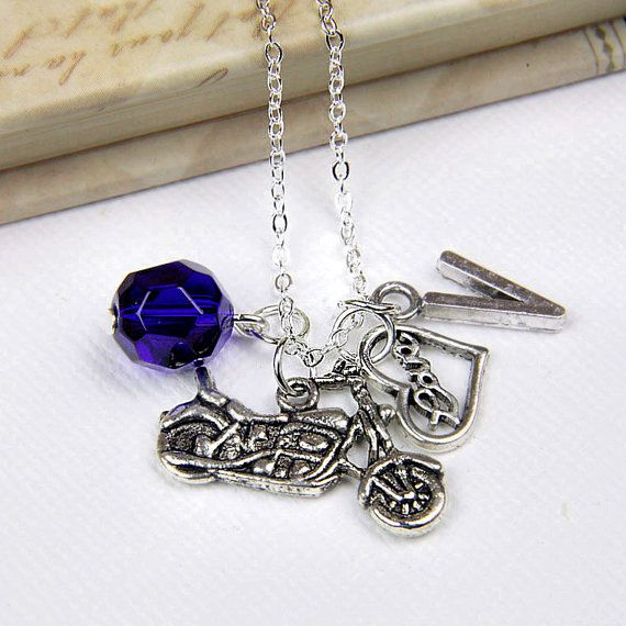 Personalized Harley Motorcycle Necklace with by InitiallyCharming, $10.00