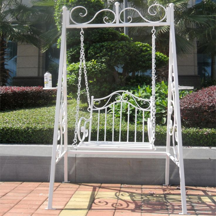 Continental Iron Single -room rocking chair swing hanging outdoor leisure balcony garden basket wholesale Cheap