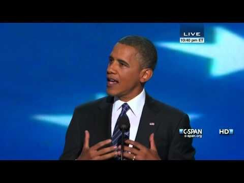 President Obama Acceptance Speech at 2012 Democratic National Convention (C-SPAN) - Full Speech  #Inspirational #Leader