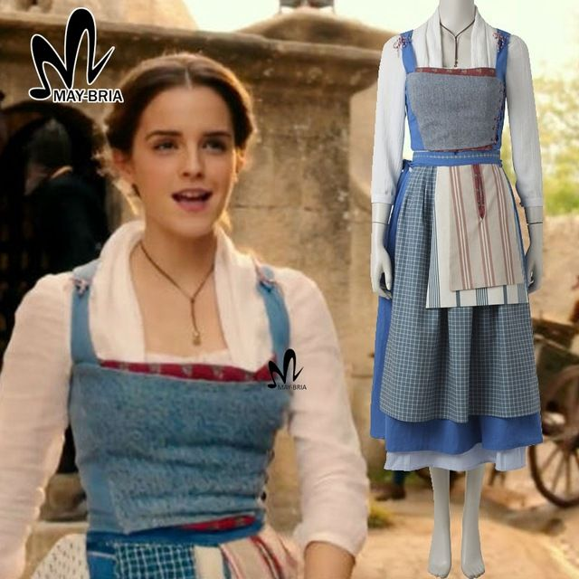 belle+2017+village+dress | 2017 Movie Beauty and The Beast Belle cosplay costume Halloween ...